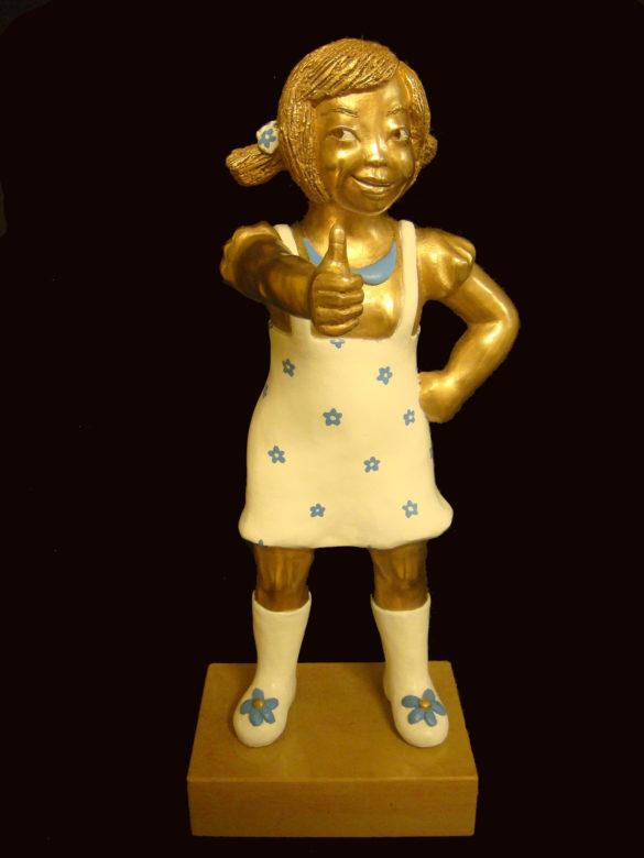 youn cho korean artist nice artworks bronze painted bronze sculpture